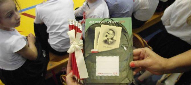 Pamiątki dla pierwszaków  z okazji  100 rocznicy  odzyskania niepodległości przez Polskę